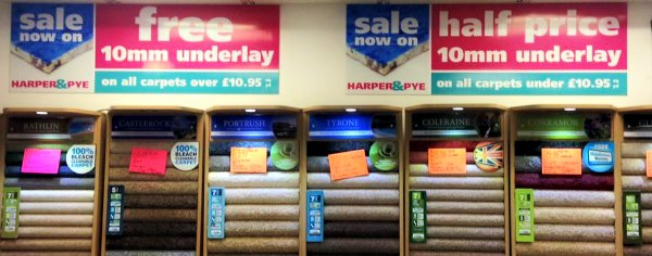 Harper and Pye-Blackpool Carpet Sale