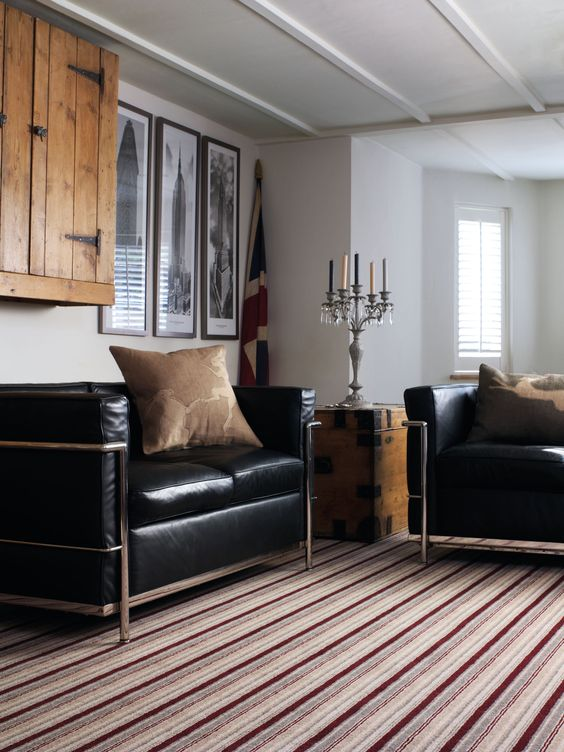 Brockway Carpets Blackpool- Jubilee Stripe-Burgundy Stripe-Harper and Pye