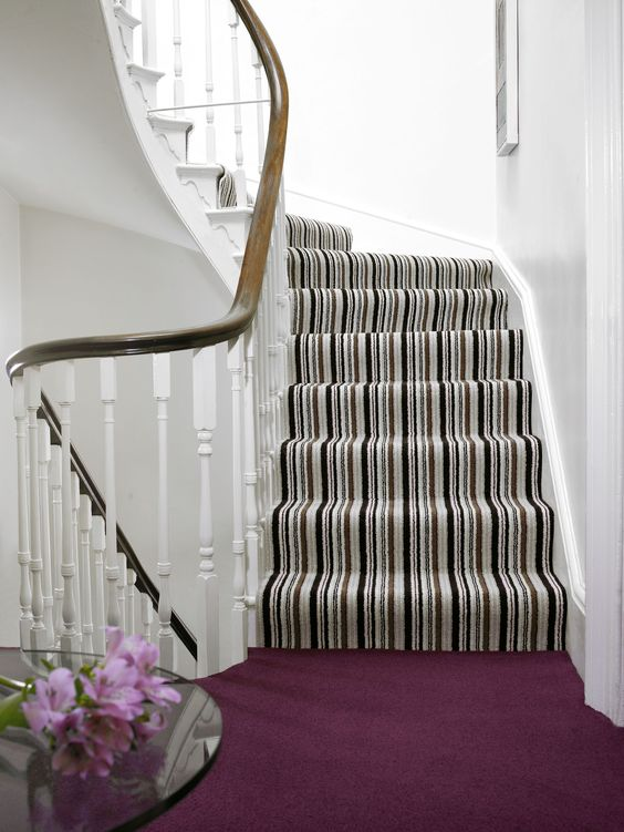 Brockway Carpets Blackpool-Vogue-Opulence Stripe-Morello-Harper and Pye