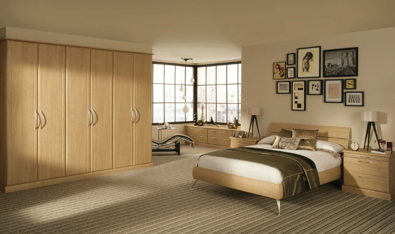 Milan Light Cherry-Fitted Bedroom Furniture