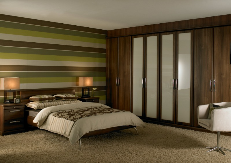 Milan Walnut-Fitted Bedroom Furniture